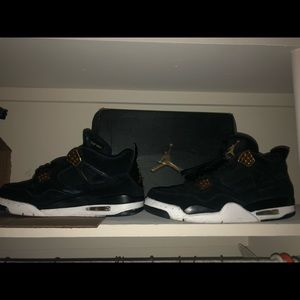 Jordan 4 gold and black size 10